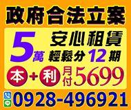 安心借貸 合法借貸 | 5萬輕鬆分12期 本金+利息 月付5699起【即樂貸】