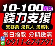 【支客票 免保人低利息】分期繳清 當日撥款 | 10-100萬 誠信經營【即樂貸】