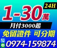 【免留證件 可分期】24H快速過件 | 1-30萬 月付3000起【即樂貸】